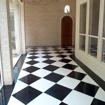 Black and White Solid Epoxy Custom Floor