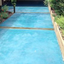 Exterior Stained Concrete Aqua Blue/Green