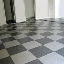 Custom MicroChip Checker Board flooring