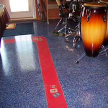 Custom Blend Granite Chip and Solid Epoxy flooring