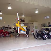 Solid Color Epoxy Hanger flooring