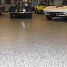 Granite Chip custom showroom floor